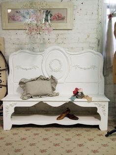 Painted Cottage Chic Shabby White Handmade by paintedcottages, $325.00