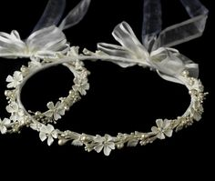 White Greek wedding crown