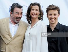 Actors Tom Selleck, Bridget Moynahan and Will Estes arrive at the 'Blue Bloods' Special Screening And Panel Discussion at Leonard H. Goldenson Theatre on June 2012 in North Hollywood, California. Blue Templar, Blue Bloods Tv Show, North Hollywood, Hollywood California, Bridget Moynahan, Image Film, Cop Show, Cbs Sports, Tom Selleck