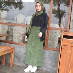 Good morning Pretty skirt from outfitm Modern Hijab Fashion, Hijab Fashion Inspiration, Muslim Fashion, Ootd Fashion, Skirt Fashion, Fashion Outfits, Stylish Hijab, Casual Hijab Outfit, Ootd Hijab