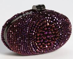 Sondra Roberts Beaded Bull's Eye Clutch