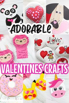 Unicorn Valentine Cards, Unicorn Cards, Valentine Day Boxes, Valentine Crafts For Kids, Homemade Valentines, Free Printable Gift Tags, Valentine's Day Printables, Paper Crafts For Kids, Homemade Crafts