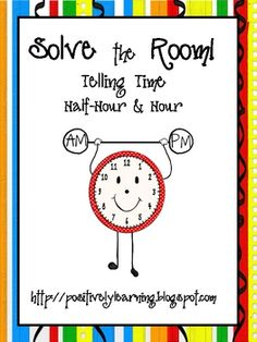 Telling time to the hour and half-hour math center/station idea with a student accountability component! Teaching Time, Teaching Math, Teaching Ideas, Math Enrichment, Math Activities, Kindergarten Lessons, Math Lessons, Math Measurement, Math Lesson Plans