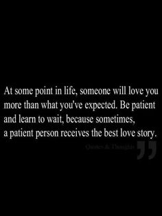 TRUE LOVE COMES UNEXPECTEDLY TO THE PATIENTS.