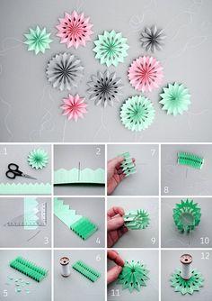 Paper snowflakes DIY | Делаем симпатичные объемные снежинки из бумаги