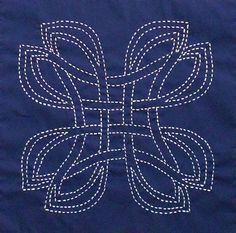 Danu a Celtic design Sashiko kit by ScarlettRoseCeltic on Etsy