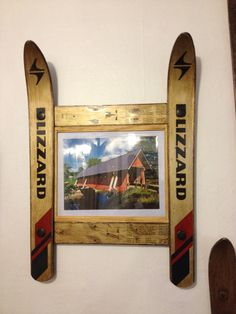 Blizzard Ski Frame with picture of an old VT by frameitinskis, $70.00