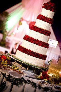 Grand Wedding Cake #big #vibrant   Like Us on Facebook for giveaways and contests!!!  www.facebook.com/586eventgroup www.586eventgroup.com
