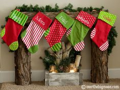 Build your own Fireplace for Stockings. So clever!!