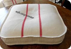 Grain Sack Dog Bed by LaMaisonLavande on Etsy, $145.00