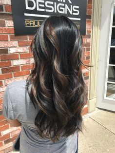 hair inspiration highlights Natural sunkissed highlights for black hair Braids For Black Hair, Hair Color For Black Hair, Brown Hair Colors, Dark Hair, Black Hair With Highlights, Hair Color Highlights, Hair Color Balayage, Bayalage, Hair Inspo
