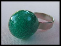 SALE 30% OFF See shop announcement Vintage 60s green space-age plastic bubble ring