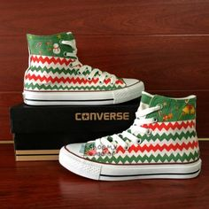 Hand painted shoes are special because its uniqueness They are not only wearable shoes but also art work They represent your personality and your special style It is a statement Painted Converse, Painted Canvas Shoes, Painted Sneakers, Hand Painted Shoes, Canvas Sneakers, Cute Christmas Outfits, Christmas Shoes, Christmas Clothes, Diy Christmas
