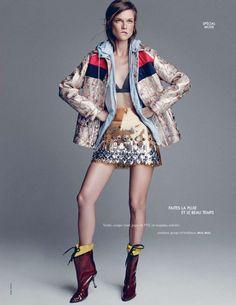 Kasia Struss in Miu Miu by Nagi Sakai for Elle France August 2014