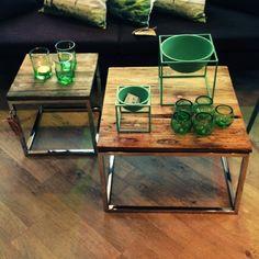"""@woodsagentur's photo: """"Sjekk ut disse kuule Cubic bordene fra Muubs i rec. boatwood og crom. Str. 40x40 og 60x60. Dette bildet er tatt på Mitt Hjem i Sandefjord in the green corner #muubs #furniture #design #decoration #home #living #interior #interiør @mitthjemas @woodsagentur #showroom #oslo"""" Living Room, Table, Furniture, Beautiful, Home Decor, Photo Illustration, Homemade Home Decor, Sitting Rooms, Tables"""