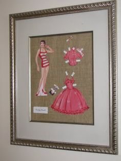 One Haute Kid: Frugal Friday & DIY: Paper Doll Art