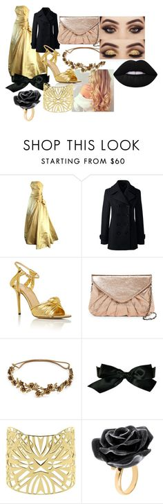 """Golden"" by cookiecookiton on Polyvore featuring Lands' End, Charlotte Olympia, Urban Expressions, Jennifer Behr, Chanel, Vélizance and Nach Bijoux"
