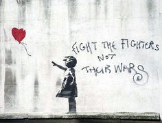 ~ Banksy... that's a graffiti b.t.w. quite awesome, and rather profound i think
