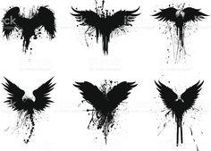 grunge wings stockowa ilustracja wektorowa royalty-free