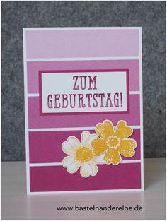 schnelle Geburtstagskarte, birthday card, flower shop, Designerpapier Farbenspiel, #stampinup #bastelnanderelbe