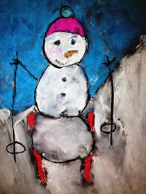 For the Love of Art: 4th Grade: Skiing Snowman