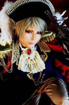 My daughter Niani's head just exploded. LOL! Prussia cosplay from Hetalia: Axis Powers.