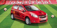 Chevrolet launches Beat, Sail U-VA Manchester United editions Manchester United, Chevrolet, Sailing, Product Launch, The Unit, Bike, Cars, Man United, Bicycle Kick