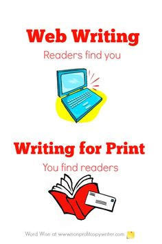 Web writing: readers find you. with Word Wise at Nonprofit Copywriter Writing Websites, Writing Resources, Easy Writing, Writing Tips, Online Business Opportunities, Professional Writing, Freelance Writing Jobs, Writing Assignments, Writers Write