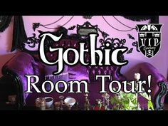 Showing our office and Purple Parlor today. Gothic Room, Purple Home Decor, Purple Rooms, Black Goth, Room Tour, Saturated Color, Purple And Black, Dark Side, The Darkest