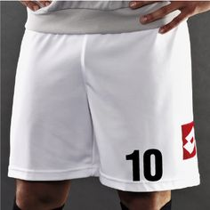 Footy Shorts Numbering
