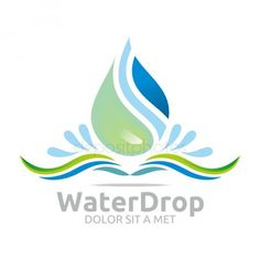 Water Icon, Water Logo, Cool Business Cards, Water Drops, Graphic Design, Illustration, Nature, Best Business Cards, Logos
