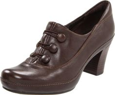 Amazon.com: Clarks Women's Mika Rose Pump,Brown Leather,11 N US: Shoes