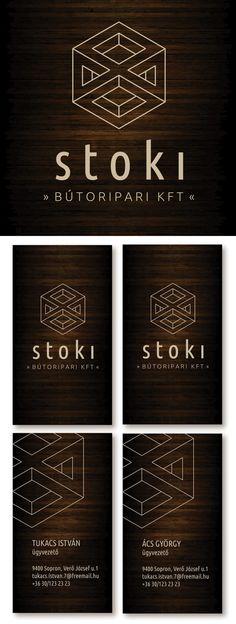 """Stoki furniture design"" logo and business card by Judit Menkó"