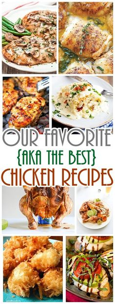 The BEST Chicken Recipes - Our Family Favorites of all time! For the Oven or the Grill - They are all sooo delicious. Don't count on leftovers with any of them!