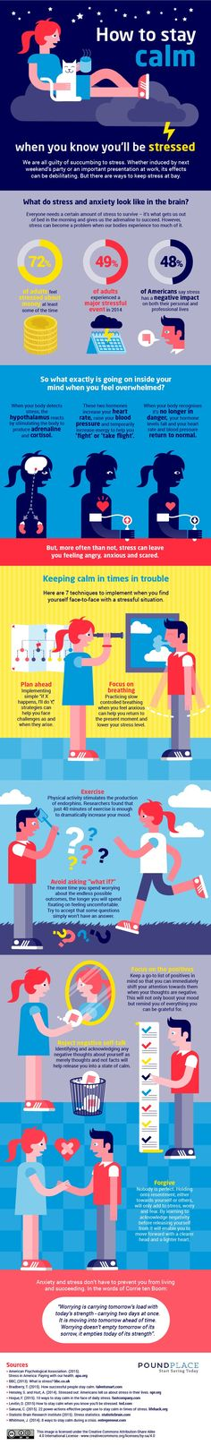 How to Stay Calm When Stress is Upon You [Infographic]