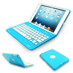 Kamor® Apple iPad mini Keyboard Case High Quality Cover with Ultra Slim Bluetooth Keyboard for 7.9 inch New iPad Mini, Folio Style with IOS Commands - Blue Kamor,http://www.amazon.com/dp/B00EK5KESE/ref=cm_sw_r_pi_dp_bBo9sb056ZJ9KFST