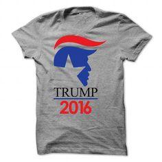 DONALD TRUMP 2016 T-Shirt - #sweatshirt cutting #sweatshirt chic. OBTAIN LOWEST PRICE => https://www.sunfrog.com/Political/DONALD-TRUMP-2016-T-Shirt-6618-SportsGrey-Guys.html?68278