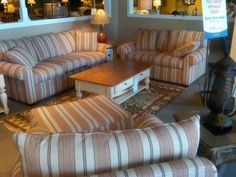 SEE IT, SNAP IT, POST IT Facebook Entry: Striped Living Room Set
