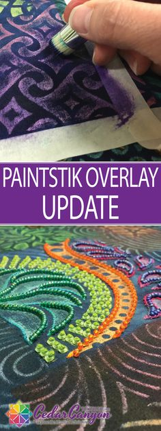 See how artist Shelly Stokes uses matte Paintstik colors to tame the intensity and shine of iridescent colors in a whole cloth collage project.