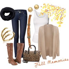 2013 Fall Outfit :) by calilove31 on Polyvore What are you going to do with the flowers? Lol