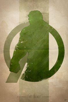 My 'Avengers Assembled' art print series. 'The Beast' (Hulk) by Digital Theory