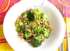 Hämmentäjä: Korealainen jauheliha-kasvisherkku, Korean beef with vegetables.