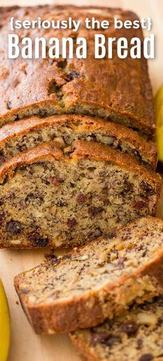 Super Moist Banana Bread, Banana Walnut Bread, Make Banana Bread, Banana Bread Recipe With 4 Bananas, Banana Bread With Walnuts, Banana Bread With Applesauce, Homemade Banana Bread, Healthy Banana Bread, Cinnamon Bread