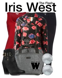 """""""The Flash"""" by wearwhatyouwatch ❤ liked on Polyvore featuring P.A.R.O.S.H., Current/Elliott, MSGM, Eastpak, Vince Camuto, Nina B, television and wearwhatyouwatch"""