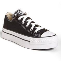 "Converse Black Chuck Taylor All Star Platform Converse. Platform: 1 3/4"".  Excellent condition, only worn a couple times. Converse Shoes"
