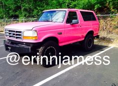 My pink bronco, PINK-E #ford #bronco #pinktruck #fordbronco #pinkbronco