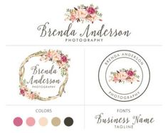 Premade logo package photography logo camera logo by NatyStudio