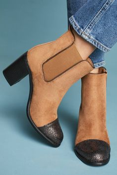 b21009250d56 Shop the Vanessa Wu Metallic Toe-Capped Booties and more Anthropologie at  Anthropologie today.