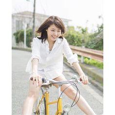 ☺︎  有村架純***  .  自転車と架純ちゃん  .  #有村架純 #有村架純好きな人と繋がりたい #kasumiarimura #cute #kawaii #可愛い #かわいい #女優 #美人 #美女 #instagood #followme #まいにちかすみ #自転車 #