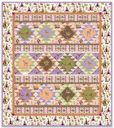 Desert Picnic Quilt 52 x - Windham Fabrics Quilt Patterns Free, Free Pattern, Picnic Quilt, Windham Fabrics, Lilac Color, Quilting Designs, Quilting Ideas, Free Blog, Quilt Tutorials